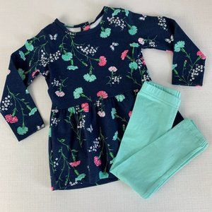 Carter's Floral Long Sleeve Shirt w/ Leggings